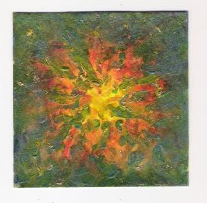 4x4 Watercolor & Acrylilc