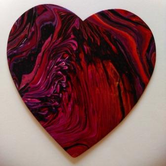 8 inch wood heart #134 4-2-2019