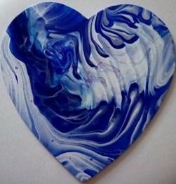 8 inch wood heart #124, 10-29-18